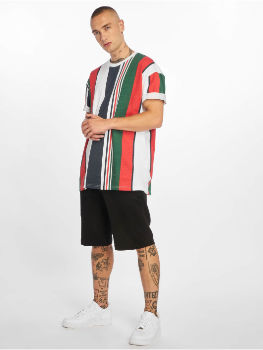 Urban Classics T-Shirt Heavy Oversized Big Stripe weiß
