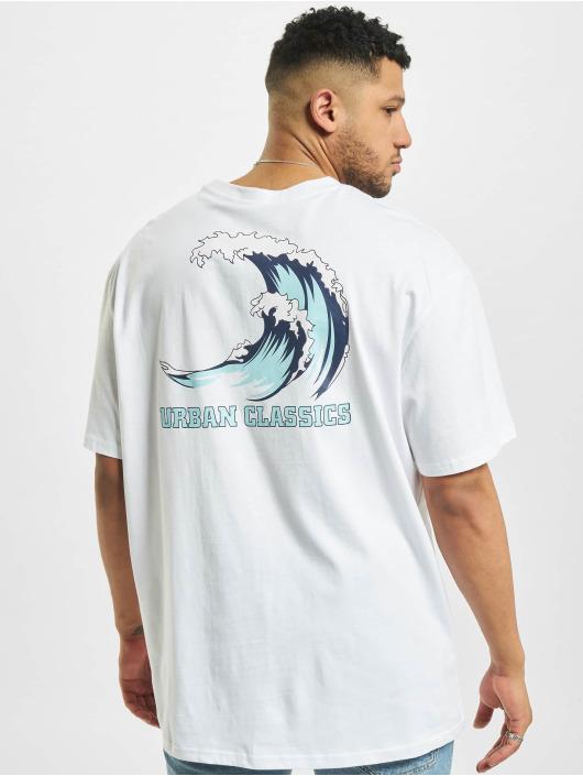 Urban Classics T-Shirt Big Wave weiß