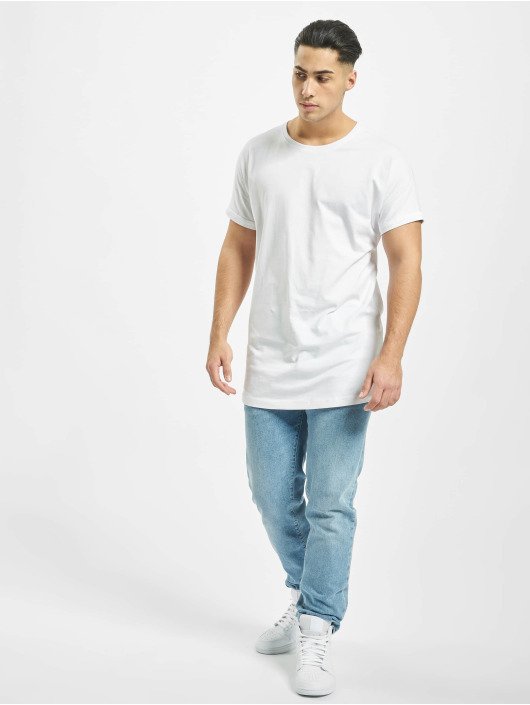 Urban Classics T-Shirt Long Shaped Turnup white