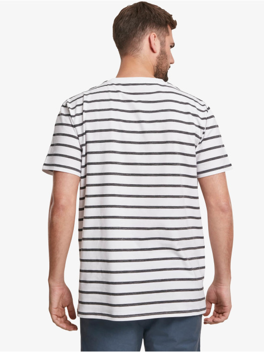 Urban Classics T-Shirt Basic Stripe Oversized white
