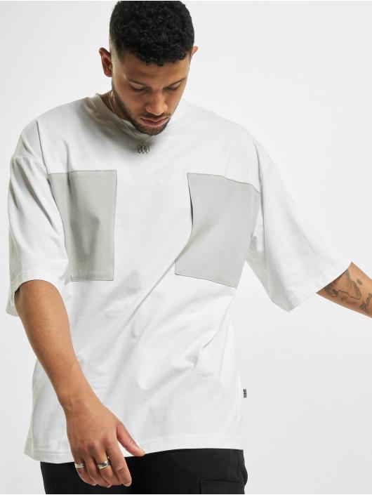 Urban Classics T-Shirt Big Double Pocket white
