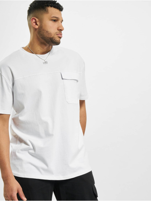 Urban Classics T-Shirt Oversized Big Flap Pocket white