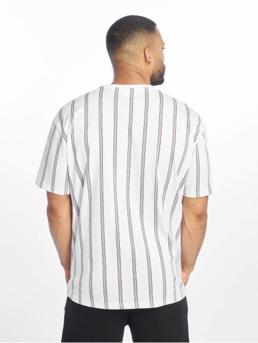 Urban Classics t-shirt Heavy Oversized Stripe wit