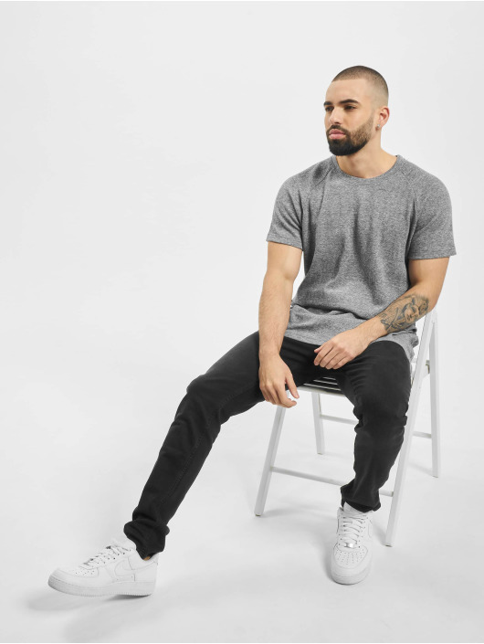 Urban Classics t-shirt Melange Rib wit