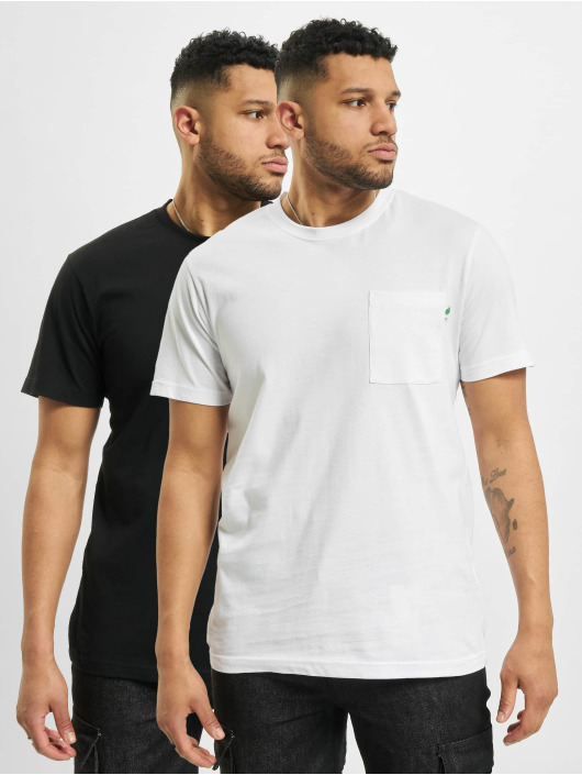 Urban Classics t-shirt Organic Cotton Basic Pocket 2-Pack wit