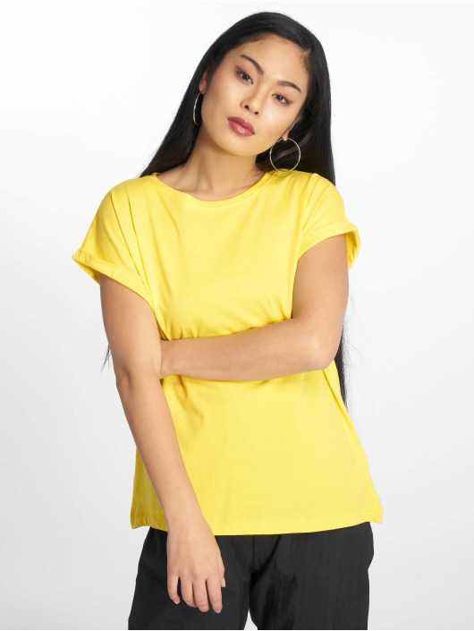 Urban Classics T-Shirt Extended Shoulder yellow