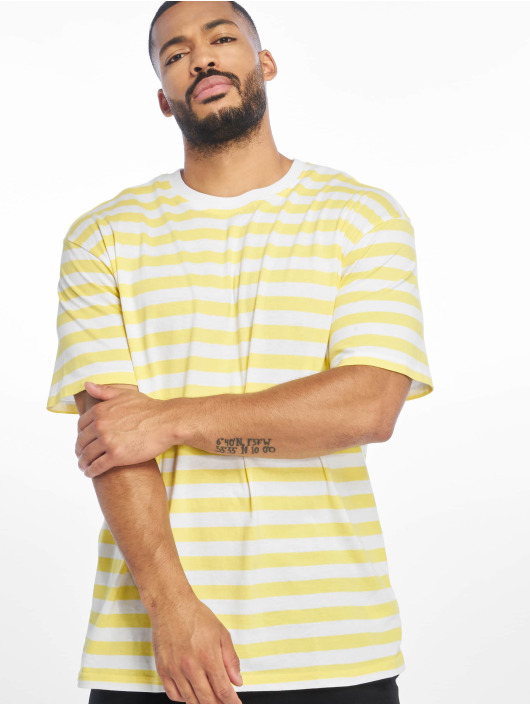 Urban Classics T-Shirt Oversized Yarn Dyed Bold Stripe yellow