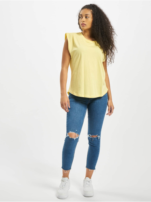 Urban Classics T-Shirt Ladies Basic Shaped yellow