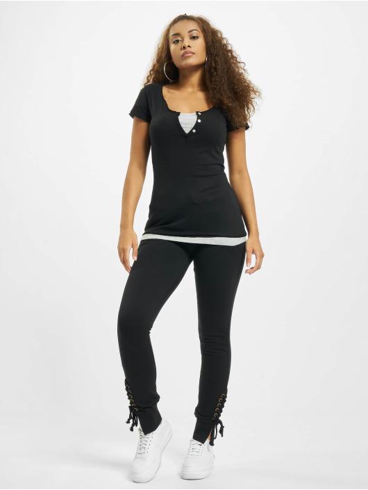 Urban Classics t-shirt Two Colored zwart