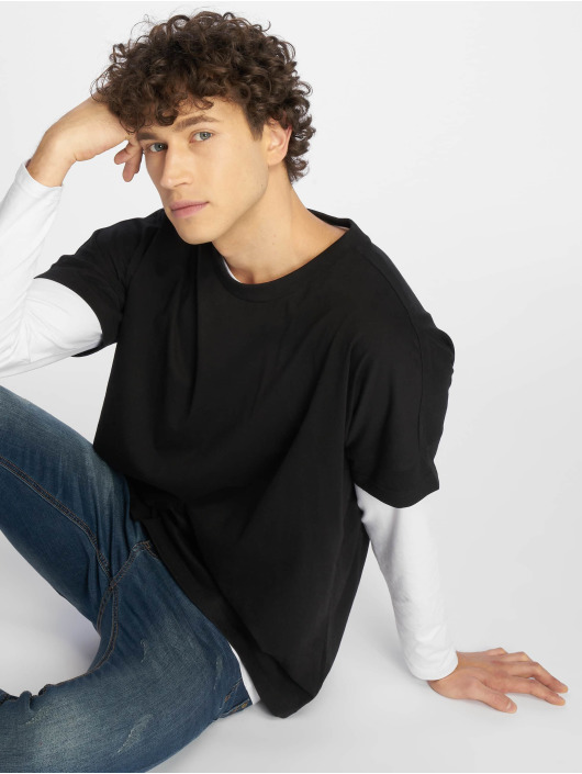 Urban Classics t-shirt Oversize Cut On Sleeve zwart