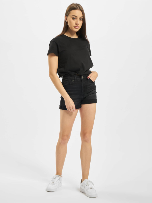 Urban Classics t-shirt Ladies Cropped Tunnel zwart