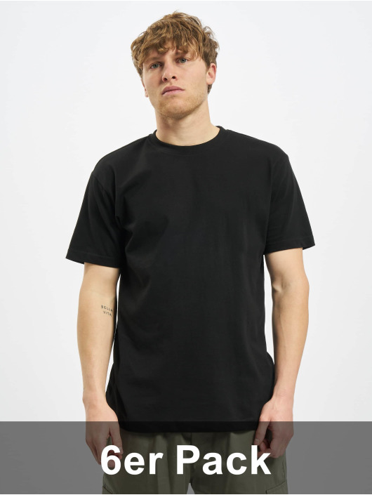 Urban Classics t-shirt Basic 6-Pack zwart