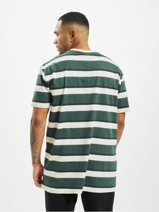 Urban Classics T-shirts Oversized Block Stripe beige