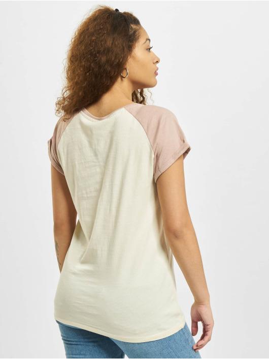 Urban Classics T-shirts Contrast Raglan beige