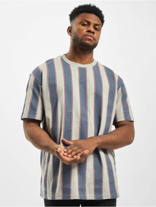 Urban Classics T-shirts Printed Oversized Bold Stripe blå