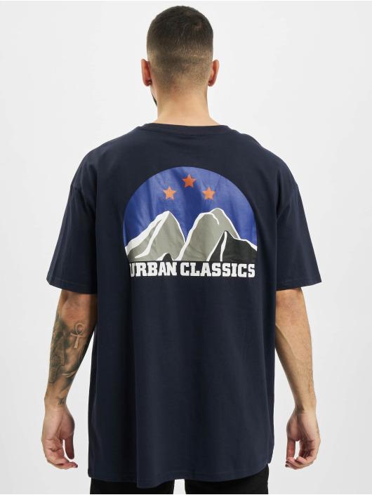 Urban Classics T-shirts Horizon Tee blå