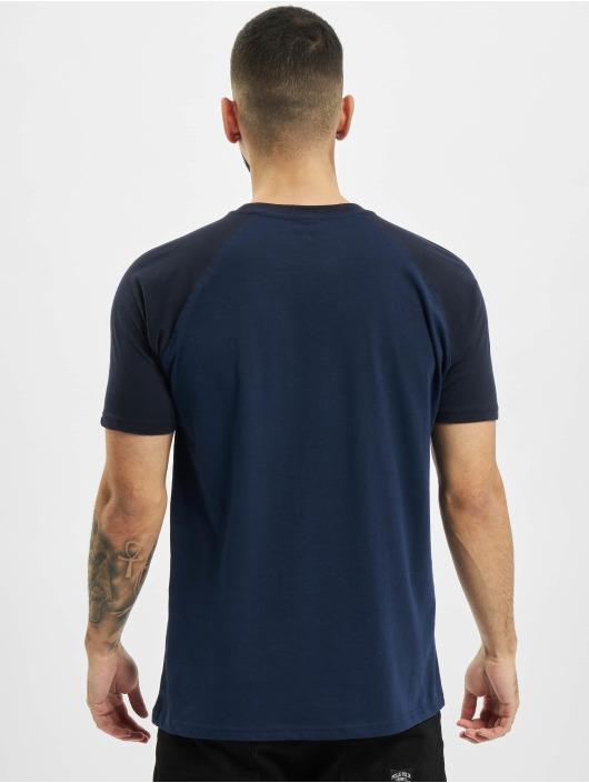 Urban Classics T-shirts Raglan Contrast blå