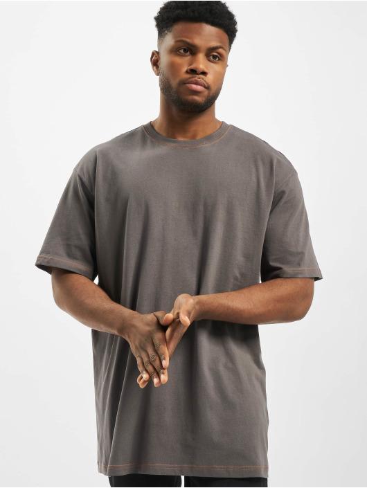 Urban Classics T-shirts Heavy Oversized Contrast Stitch grå