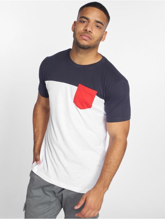 Urban Classics T-shirts 3-Tone Pocket hvid