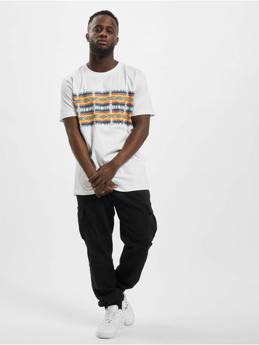 Urban Classics T-shirts Inka Pattern hvid