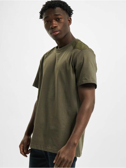 Urban Classics T-shirts Military oliven