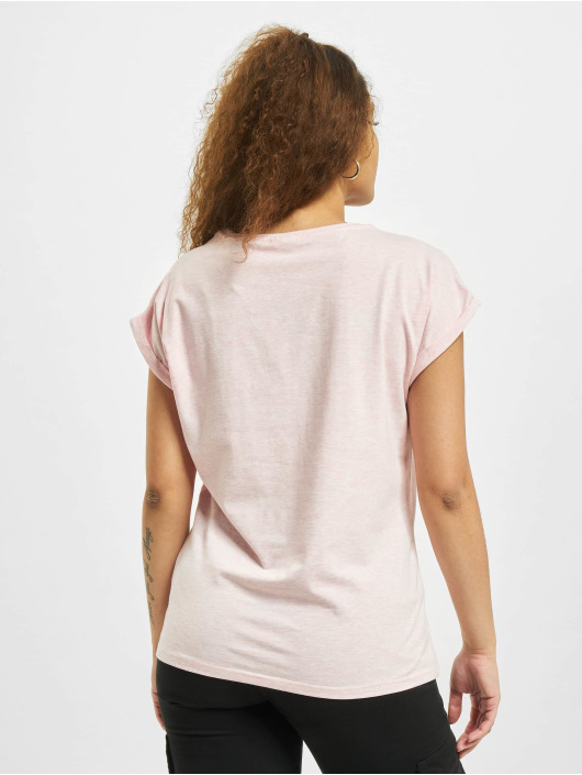 Urban Classics T-shirts Color Melange Extended Shoulder pink