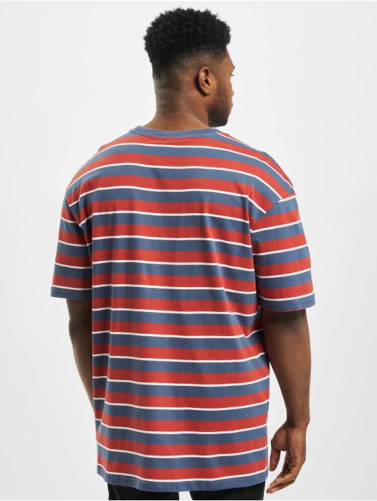 Urban Classics T-shirts Yarn Dyed Oversized Board Stripe rød