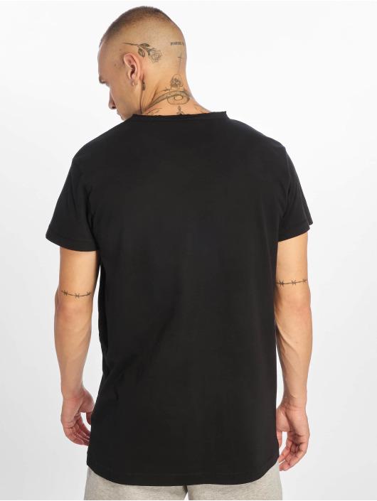 Urban Classics T-shirts Pigment Dye High Low sort