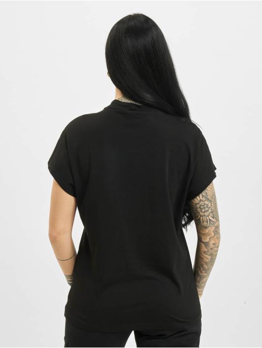 Urban Classics T-shirts Oversized Cut On Sleeve Viscose sort