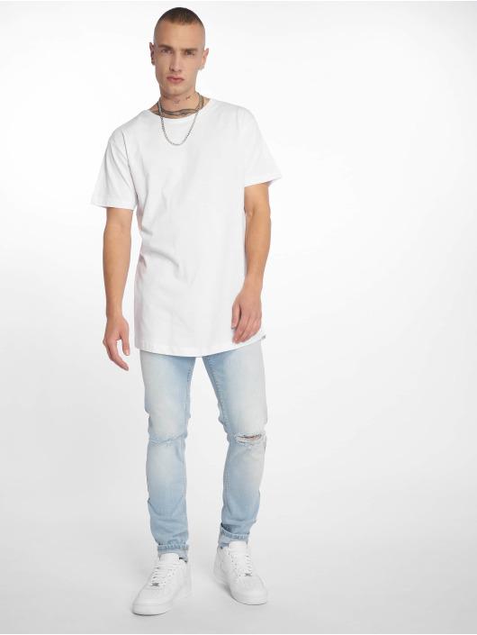 Urban Classics T-Shirty Shaped Long bialy