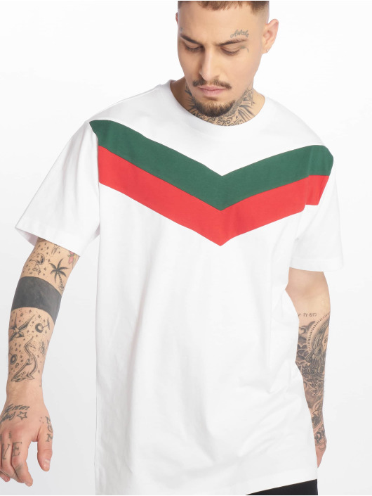 Urban Classics T-Shirty Arrow Panel bialy