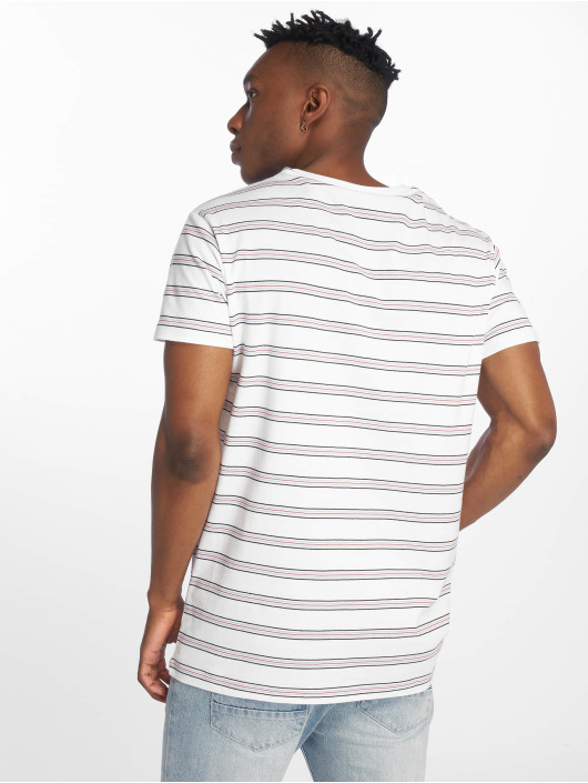 Urban Classics T-Shirty Multicolor Stripe bialy