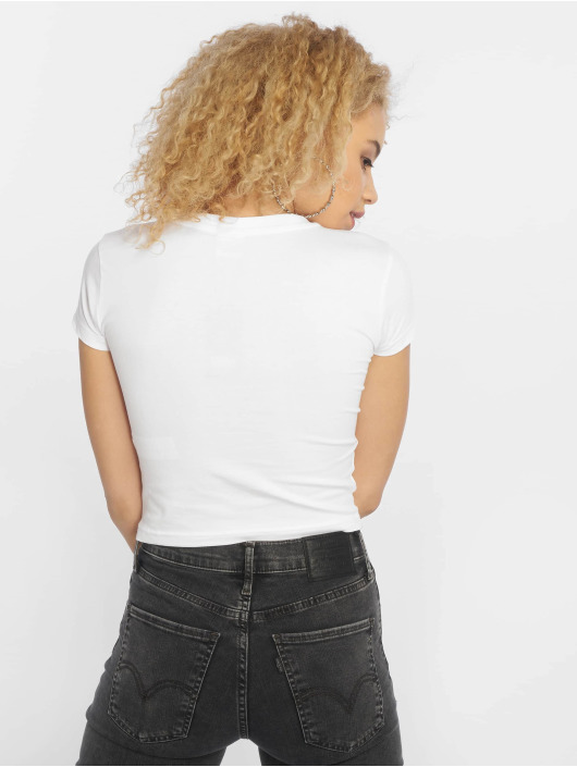 Urban Classics T-Shirty Stretch Jersey Cropped bialy