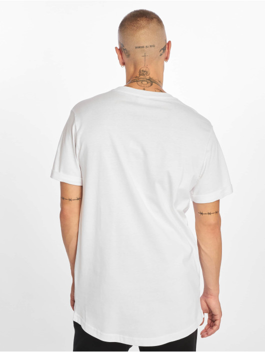 Urban Classics T-Shirty Short Shaped Turn Up bialy