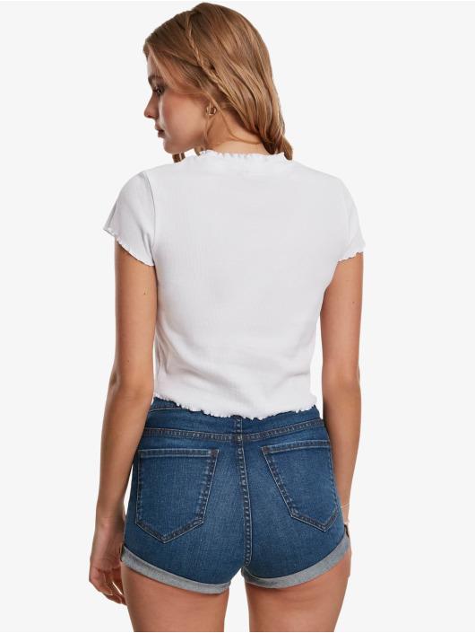 Urban Classics T-Shirty Cropped Rib bialy