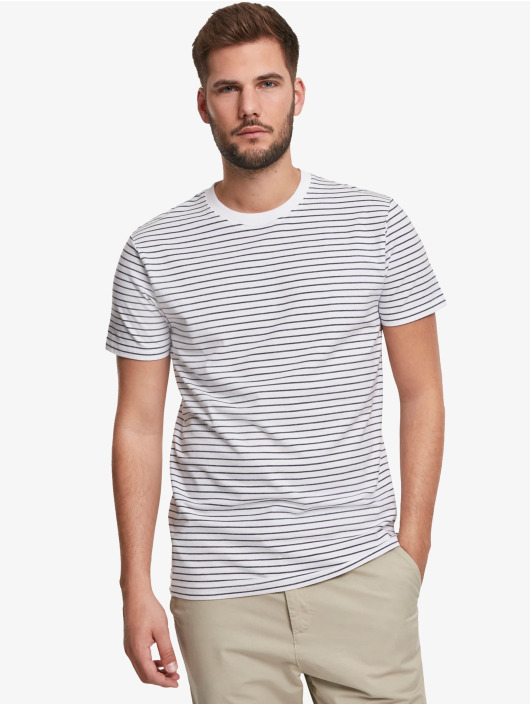 Urban Classics T-Shirty Basic Stripe bialy