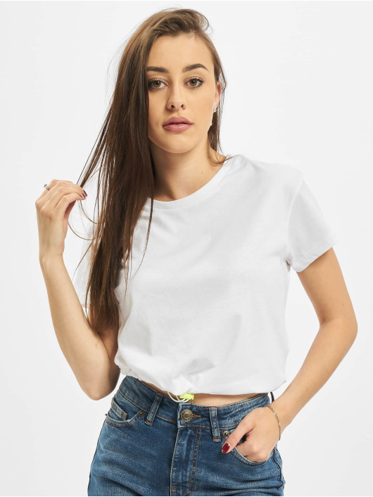Urban Classics T-Shirty Ladies Cropped Tunnel bialy