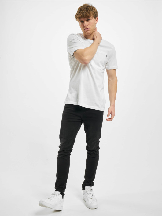 Urban Classics T-Shirty Basic Pocket bialy