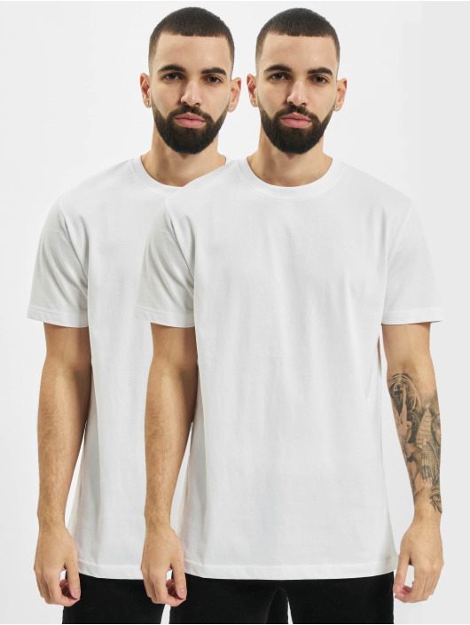 Urban Classics T-Shirty Basic Tee 2-Pack bialy