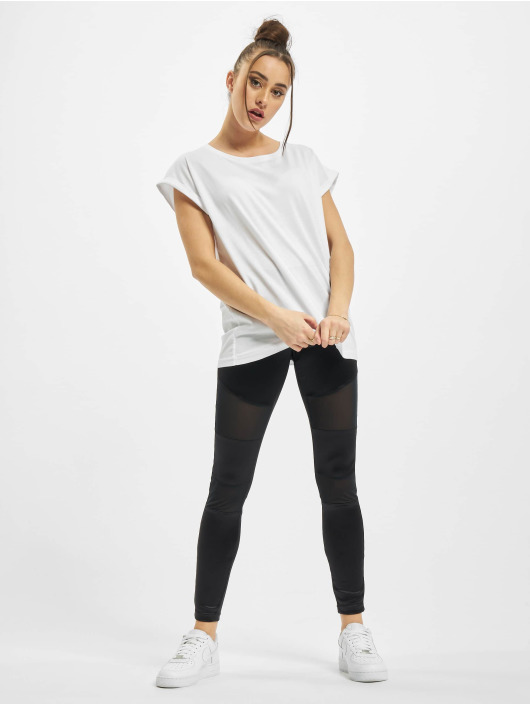 Urban Classics T-Shirty Ladies Organic Extended Shoulder Tee bialy