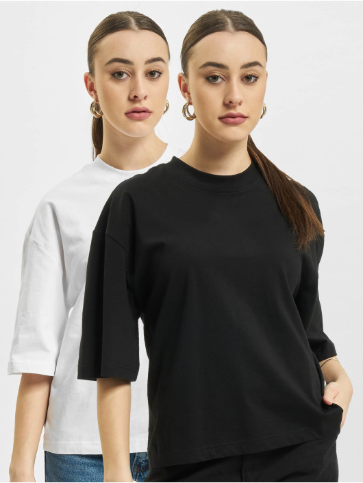 Urban Classics T-Shirty Organic Oversized 2-Pack bialy