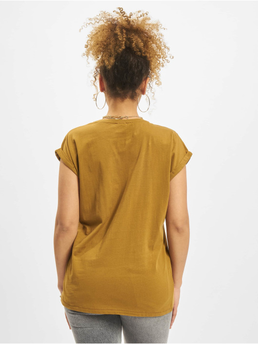 Urban Classics T-Shirty Extended brazowy