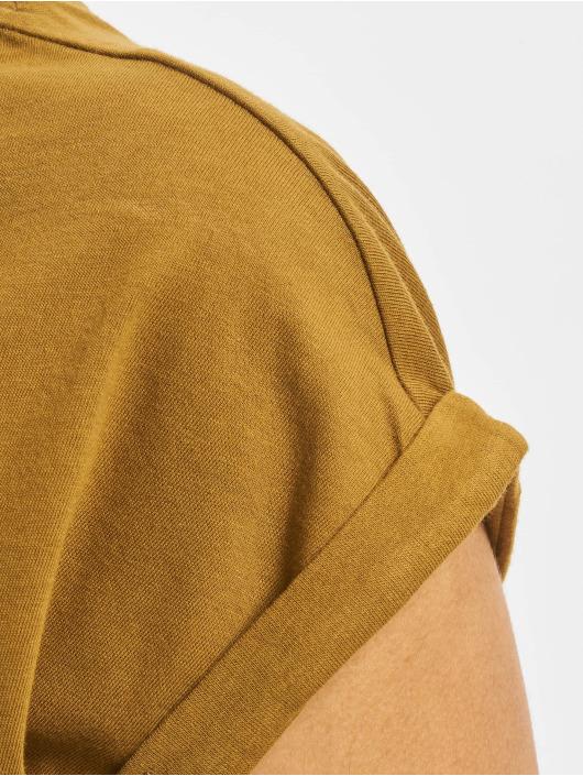 Urban Classics T-Shirty Extended brazowy