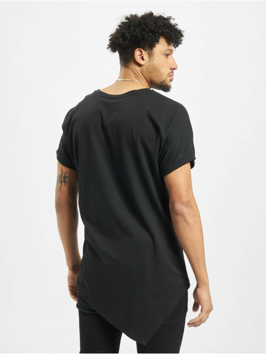 Urban Classics T-Shirty Asymetric Long czarny
