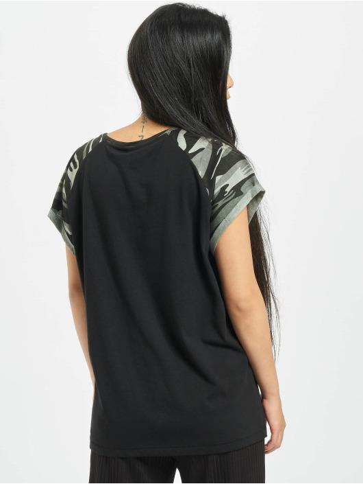 Urban Classics T-Shirty Contrast Raglan czarny