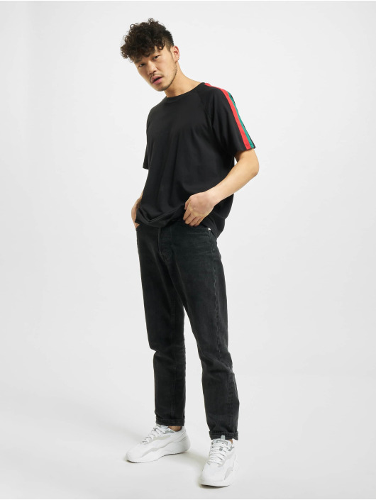 Urban Classics T-Shirty Stripe Raglan czarny