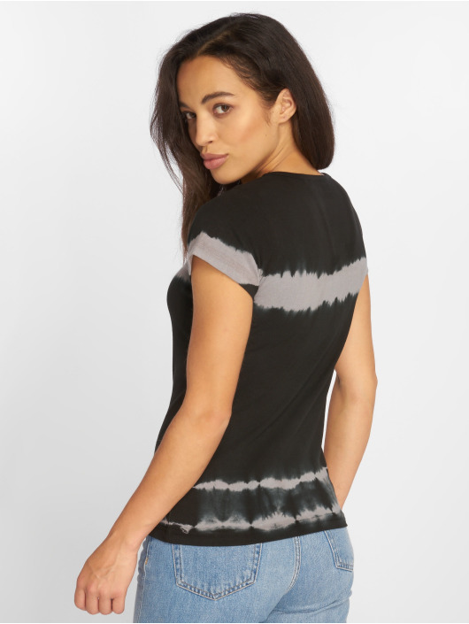 Urban Classics T-Shirty Striped Tie Dye czarny