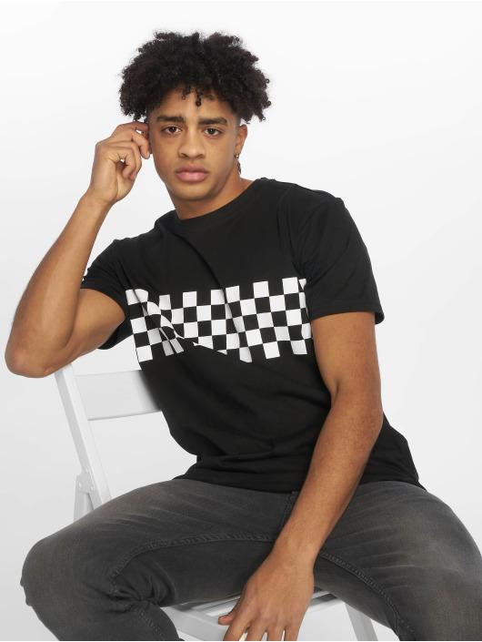 Urban Classics T-Shirty Check Panel czarny