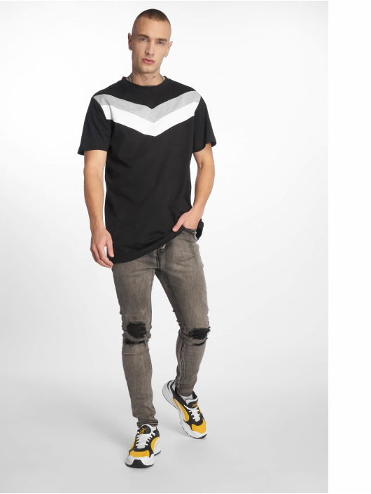 Urban Classics T-Shirty Arrow Panel czarny