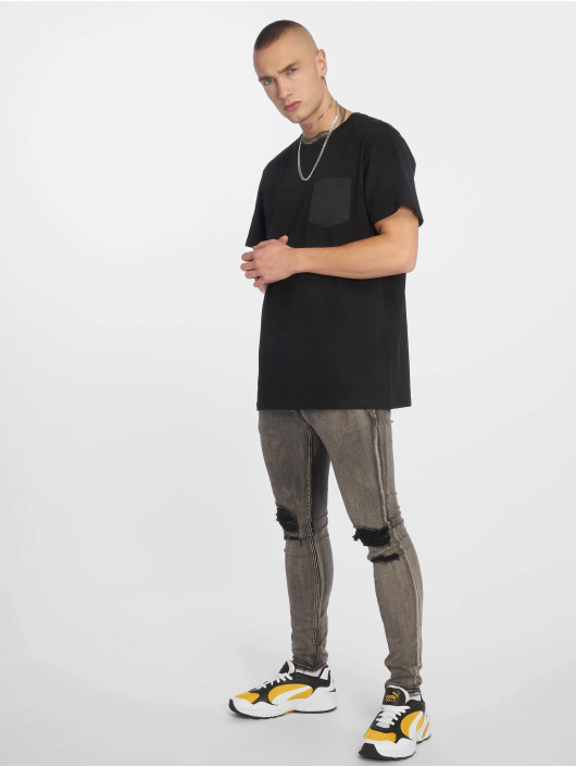 Urban Classics T-Shirty Modal Mix Pocket czarny